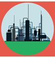 Oil refinery vector