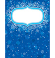 Blue christmas background with christmas elements vector