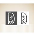 Retro alphabet letter d art deco vintage design vector
