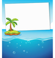 Ocean and sign vector