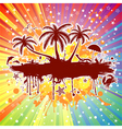 Summer party background vector