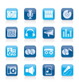 Music and audio equipment icons vector