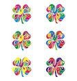 Colorfull abstract flower vector