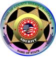 Al 0217 sheriff badge vector