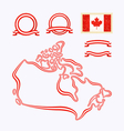 Colors of canada vector