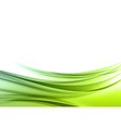 Abstract green wave background vector