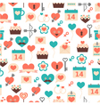Seamless pattern for valentine day date and wed vector