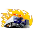 Cartoon semi truck oneclick repaint vector