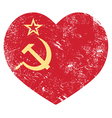Communism ussr - soviet union retro heart flag vector