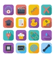 Color flat icons 7 vector