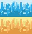 City skyscraper silhouette background vector
