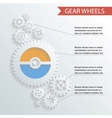 Abstract gear wheels infographics background vector