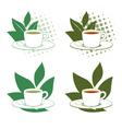 Green and black tea vector