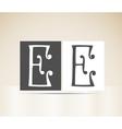 Retro alphabet letter e art deco vintage design vector