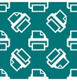 Printer web icon flat design seamless pattern vector