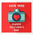 Happy valentines in flat style vector