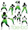 Tae bo silhouettes vector
