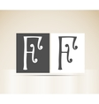 Retro alphabet letter f art deco vintage design vector