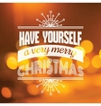 Christmas calligraphic card - for invitation vector