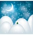 Magic christmas landscape vector