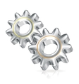 Two gears icon icon vector