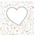 Lovely pink blue polka dots heart frame eps 8 vector
