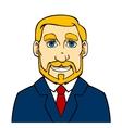 Businessman with beard vector