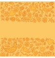 Colorful frame with orange background vector