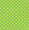 Green background polka fabric with white dots vector