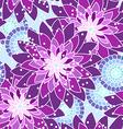 Seamless flower pattern in purple tones vector