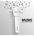 Paper microphone background concept vector