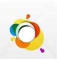 Modern colorful geometrical circles design vector