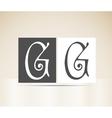 Retro alphabet letter g art deco vintage design vector