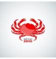 Crab seafood menu background vector