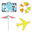 Holidays and travel elements vector