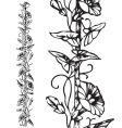 Antique floral border engraving vector