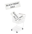 A shopping cart on black friday banner vector