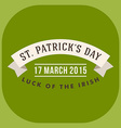 St patricks day card design vintage holiday badge vector
