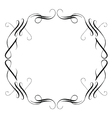 Vintage calligraphic frame vector