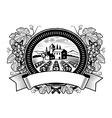 Grapes harvest label black and white vector