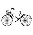 Retro bicycle vector