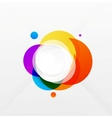 Modern colorful geometrical circles design vector