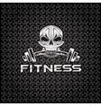 Silver fitness skull vector
