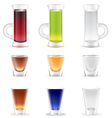 Mix of colorful alcohol shots drink vector