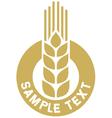 Wheat label vector