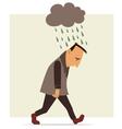 Depressed man vector