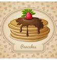 Baked pancakes emblem vector