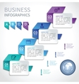 Origami infographics business template vector