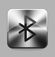 Metallic buton vector