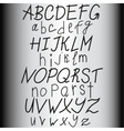 Hand drawn alphabet abs letters vector